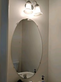 "Oval Mirror 38"" x 10"" Belcamp, 21017"