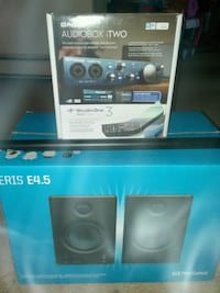 two black and blue speakers Mansfield, 44907