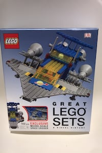 Great LEGO Set Books and mini space cruiser