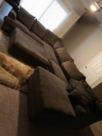 brown suede 3-seat sofa Naperville