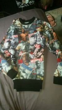 LARGE Tupac Collage Sweater Red Deer, T4P 3L5