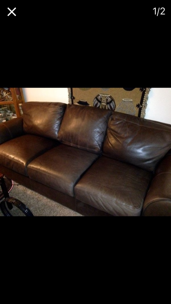 dania leather sofa long 92 clean smoke and pet free home must
