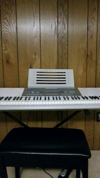 white electronic keyboard with stand Rockville, 20855