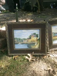 brown wooden framed painting of house Ballwin, 63021