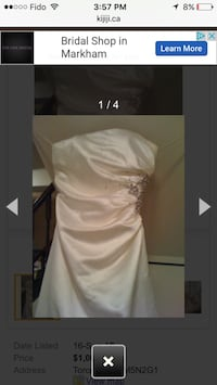 wedding dress Toronto, M5N 2G1