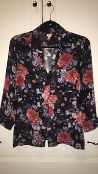 Floral raw silk blouse Richmond Hill, L4C 0E3