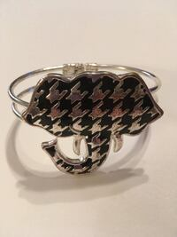 Houndstooth silver cuff bracelet Northport, 35473