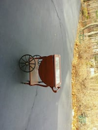 Antique tea cart or bar cart