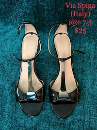 pair of black leather open-toe ankle strap heels Irvine, 92618