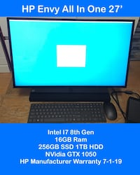 All in one graphics editing and gaming desktop  Hyattsville, 20782