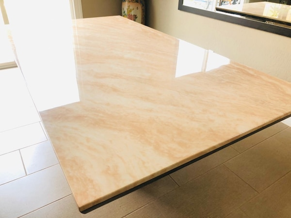 7pc Beige Marble table•Delivery and installation•No credit check 972fc0ee-dcfd-4d17-938a-b172ca4b95dc