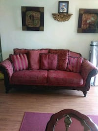 brown and red fabric loveseat Orlando, 32811
