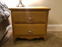 Mustard color 2-drawer nightstand PHILADELPHIA