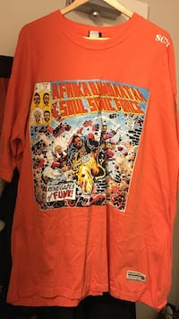 orange Afrika Bimbaataa Soul Sonic Force T-shirt size 3XL Burlington, L7R 1J7
