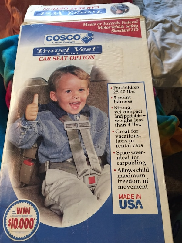 Cosco Travel Vest Car Seat Option
