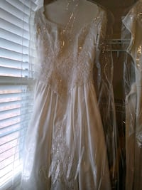 White beaded sequin wedding dress Missouri City