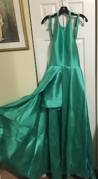 Turquoise high low prom dress size10 District Heights, 20747