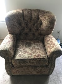 brown and gray floral fabric sofa chair Goose Creek, 29445