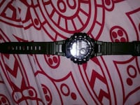 round black analog watch with black link bracelet Riverdale Park