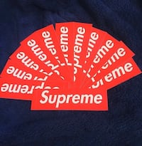 Supreme box logo stickers