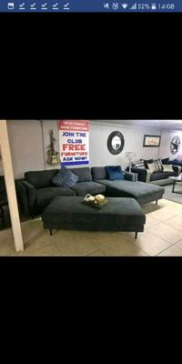 Brand New  Sectional Sofa With ottoman Austin
