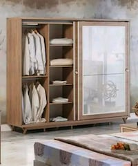 brown wooden cabinet with mirror Mississauga, L5B 0H8