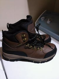 pair of brown-and-black work boots Burnsville, 28714