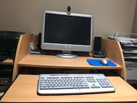 Computer with desk + more