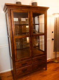 China Cabinet with Glass Shelves  Silver Spring