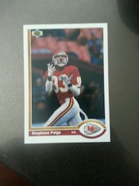Stephone Paige Kansas City Chiefs trading card 3771 km