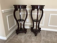Japanese cherry wood stands rose marble tops Lantana, 76226