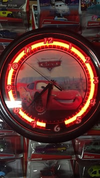 Disney cars clock Fresno