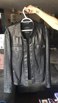 All Saints leather shirt jacket. Mississauga, L5G 1G8