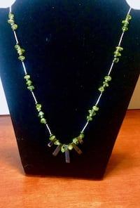 peridot necklace with hematite, black pearls and sterling silver Oklahoma City, 73108