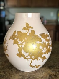 Light Pink & Gold Ceramic Vase Surprise, 85388