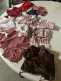 18 in doll cloths 2.00 each