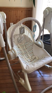 baby's white and gray cradle and swing Laurel, 20708