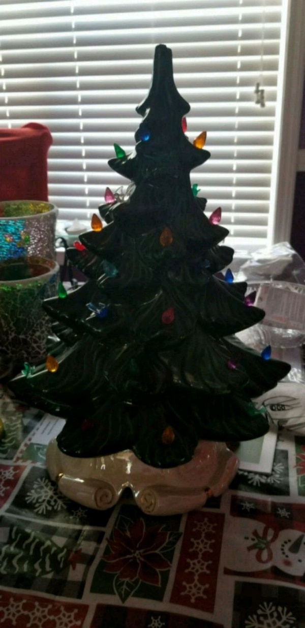 Vintage Ceramic Christmas Tree No Light