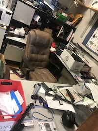 Free desk and chair Must take both Largo, 33773