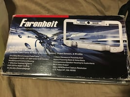 Farenheit license plate holder box