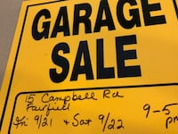 yellow and black Garage Sale signage Fairfield, 07004