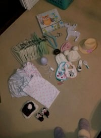 Baby gear and toy lot