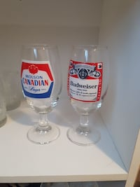 two clear glass beer mugs Calgary, T2K 0G3