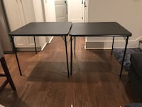 Two folding poker tables 34 x 34 inches