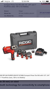 Rigid rp-240 press tool kit Suitland, 20746
