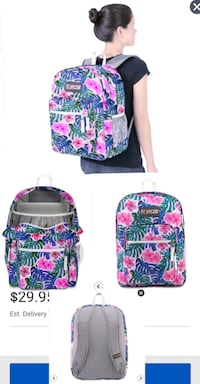 NEW! TRANS BY JANSPORT  SUPERMAX BACKPACK - MONSTERA VIBES - PINK F Louisville, 40218
