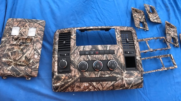 2009 & Up Dodge Ram Hydro dipped Grill And Interior Professionally Hydro  dipped Dodge Ram