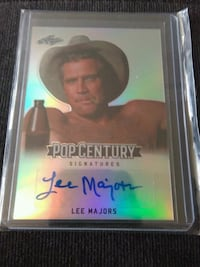 LEAF POP CENTURY LEE MAJORS AUTOGRAPH CARD