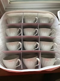 Vintage Johnson & Bros. White Teacups (Farmhouse)