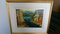 nature painting with gold-colored frame New Westminster, V3M 1W5